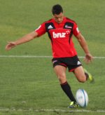 Dan Carter kicks for goal